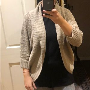 Cream / tan cardigan